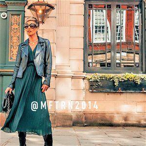ZARA Midi Dress with Smocked Waist (M)*